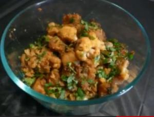Potato Cauliflower Dry Curry