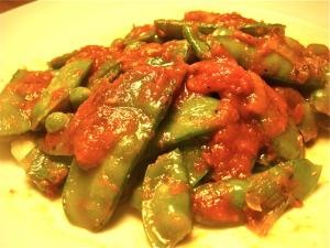 Tomatoes with Snow Peas