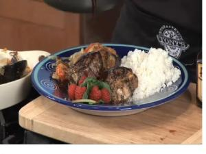 Veggie Tian with Stuffed Lamb Chops and Wine Sauce - Part 1