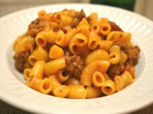 Skillet Hamburger and Macaroni Dinner