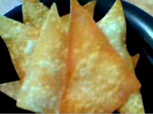 Crispy Fried Wonton Chips