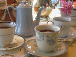 Keep your tea party table setting intimate and elegant.