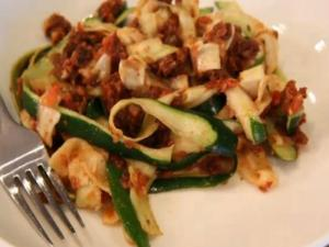 Sun Dried Zucchini Pasta- Raw Cuisine by Melissa Henig and Jon Ham