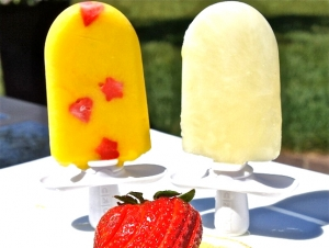Mango-Ginger Popsicles