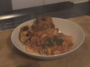 Spanish Rice with Chorizo & Prawns