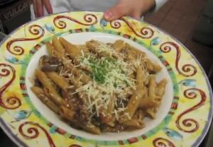 Delicious Penne Prosciutto with Mushrooms