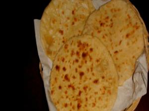 Wheat Naan (Indian Bread) - Baked on Stove - No Oven.