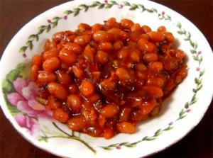 Microwave Cooked Orange Baked Beans