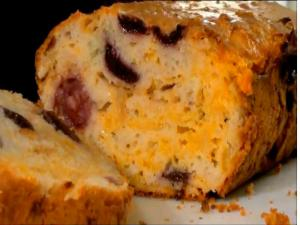 Savoury Cherry Cheese Quick Bread