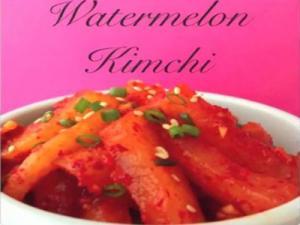 How to Make Watermelon Kimchi