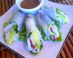 Californian Style Imitation Crab And Avocado Spring Roll