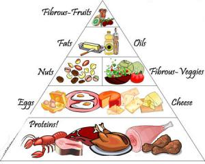 Protein Diet food pyramid
