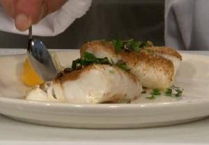 Lemon Caper Baked Halibut