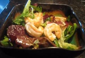 Shrimp Salad with Coconut Oil Vinaigrette