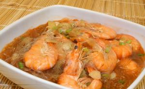 Shrimps Sotanghon with Oyster Sauce