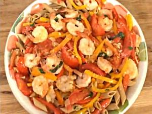 Divabetic Penne with Peppers and Shrimp