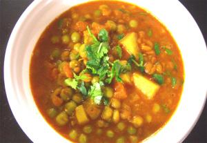 Dry Peas Curry