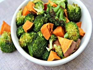 Roasted Broccoli and Sweet Potato Side Dish- My Fav
