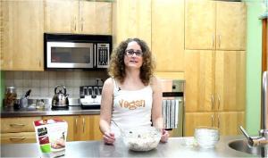 Vegan Chick'n Scallopini, Apple and Grape Salad