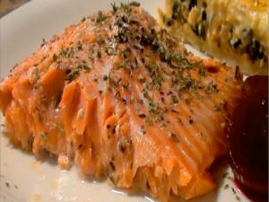 Cedar Planked Maple Salmon