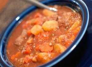 Microwave Old Fashioned Beef Stew