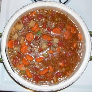 Hamburger Stew En Casserole