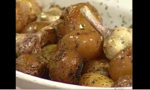 Pesto Garlic Roast Baby Potatoes