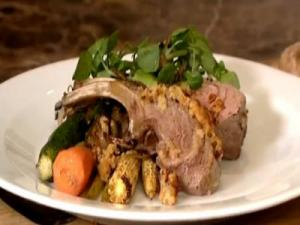 How to cook Roast New Zealand Rack of Lamb with Marmalade Mustard Crumb Topping