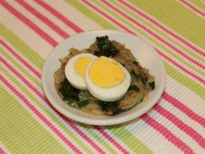 We're using up the Hard Boiled Eggs with Kale Hash Browns