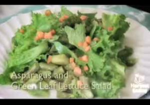 Asparagus and Green Leaf Salad