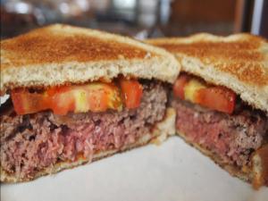 Louis' Lunch Burger