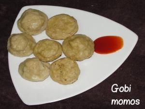 Homemade Gobi Momos