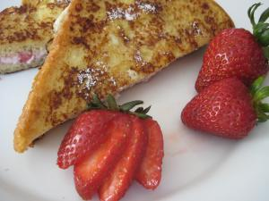 Strawberries Cheesecake French Toast