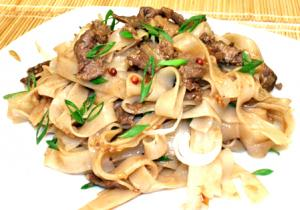 Beef Ho Fan With Noodles