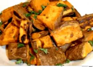 Quick And Easy Roasted Sweet Potatoes
