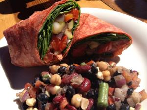Bean And Veggie Wraps