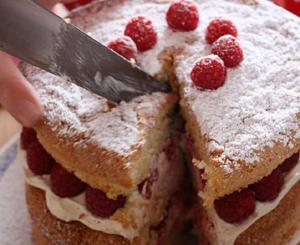Griestorte With Raspberries