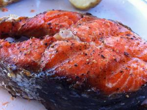 Salmon Steaks Limone