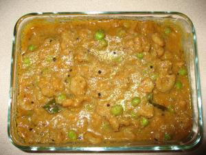 Shrimp Mutter Korma