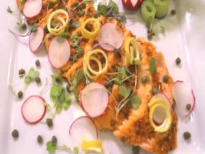 Baked Salmon with Lemon Dill Sauce