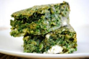 Spinach and Onion Squares