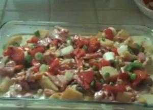 Baked Potato In Tahini Sauce