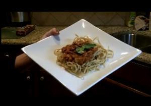 Vegan Ground Meat Sauce with Spaghetti