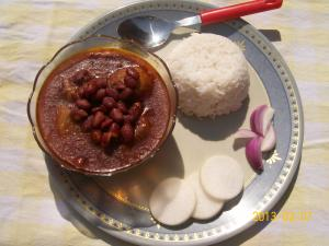 High-Fiber Gravy Of Kidney Beans & Turnips