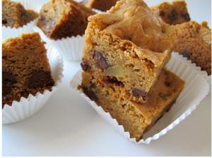 Chocolate Chip and Candied Ginger Blondies