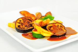 Red Thai Curry Eggplant and Squash Casserole