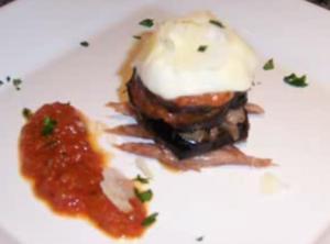Eggplant Parmigiano Stack