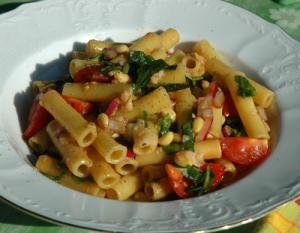 Leftover pasta used to make new recipe altogether
