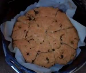 Berry Scones Cooked in Dutch Oven
