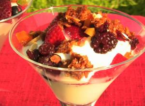 Breakfast Yogurt Parfaits with Homemade Granola